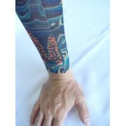 Manga Tatuada Tatuagem Colors Tatoo Spandex Mod 060