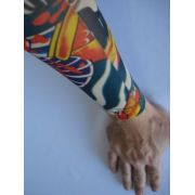 Manga Tatuada Braço Dragão Tatuagem Spandex 0485