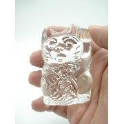 Enfeite Gato Da Sorte Miniatura Vidro Coleção Decoração 7cm