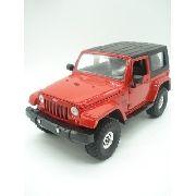 Carrinho Metal Jeep Wangler 2007 Verde Big Time Vermelho