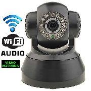 Câmera Ip Dvr Sem Fio Wifi Alarme Gravador Rj45 Preta