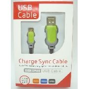 Cabo Usb Fast Charger 1,5m Samsung S3 S4 S5 V8 Sync Verde