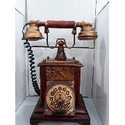 Cofre Resina Telefone Discagem Miniatura Vintage Retro