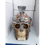 Cofre Cranio Caveira Guerreira Soldado Espartano