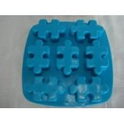 Forma De Silicone Quebra Cabeça Gelo Chocolate Forminha
