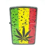 Isqueiro Folha Erva Bob Marley Fluido Display Mod9