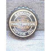 Placa Metal Harley Davidson Motor Oil Decoração Coleção