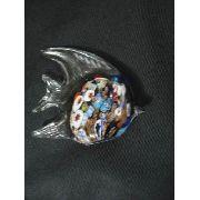 Enfeite Peixe De Vidro Decoração 12x14cm Murano
