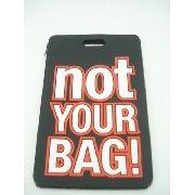 Chaveiro Identificação Not Your Bag Mala Etiqueta Preto