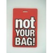 Chaveiro Identificação Not Your Bag Mala Etiqueta Vermelha