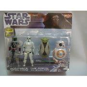 Conjunto 4 Peças Kit Coleção Star Wars Set Figure C-2235
