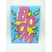 Placa Metal Boom Onomatópeia Quadrinhos Decoração Coleção