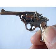 Chaveiro Revolver Metal Gun Vintage Dourada Sp440