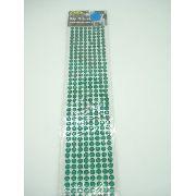 Conjunto Adesivo Destacável Brilho Verde Escuro