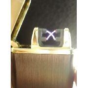 Isqueiro Luxo Arc Plasma Carregamento Usb Coleção Marrom