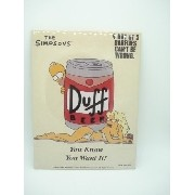 Placa Metal Os Simpsons Duff 30x20cm
