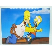 Placa Metal Os Simpsons Homer E Bart 30x20cm