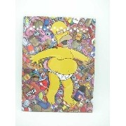Placa Metal Os Simpsons Homer Cueca 30x20cm