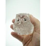 Enfeite Coruja Miniatura Vidro Coleção Decoração 7cm