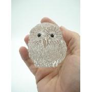 Enfeite Coruja Miniatura Vidro Coleção Decoração 7cm 038