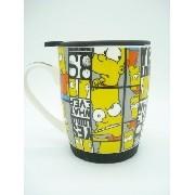 Caneca Bart Simpson Porcelana Coleção Zona Criativa