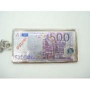 Chaveiro Metal Cédula Nota De 500 Euros