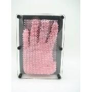 Captador De Imagens Pinart 3d Rosa Escultura Pregos Medio