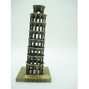 Enfeite Miniatura Torre De Pisa Toscana Italia Metal Luxo