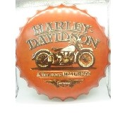 Placa Metal Harley Davidson Tradition Decoração Coleção