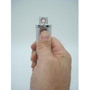 Isqueiro Luxo Recarregável Usb Elétrico Eletrônico Prata
