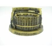 Miniatura Coliseu De Roma Metal Enfeite Luxo