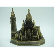 Miniatura Basilica Sagrado Coração Paris Metal Enfeite Luxo