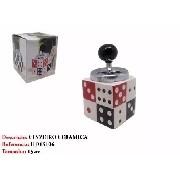Cinzeiro Domino Giratorio 15cm Cerâmica