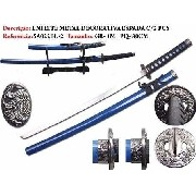 Espada Katana 2 Peças Dragão Ninja Azul Sa022bl-2
