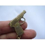 Chaveiro Mini Revolver Gun Militar Vintage