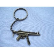 Chaveiro Mini Submetralhadora Gun Militar Vintage