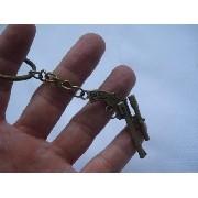 Chaveiro Mini Revolver Com Mira Gun Militar Vintage