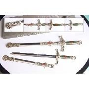 Espada Cavaleiro Templario Medieval Maçonica C Bainha 60cm