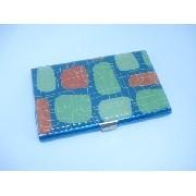 Porta Cartão Credito Prata Com Chaveiro Mini Carteira