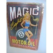 Placa Metal Vintage 30x20cm Bilhar Sinuca Magic 8 Bola Oito