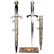 Espada Maçonica Bicefala Linda 47cm