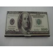 Porta Cartão De Visitas Dolar Inox