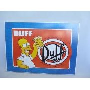 Placa Metal Os Simpsons 40x30 Duff