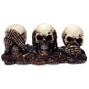 Sabios Cabeças De Caveira Trio Surdo Mudo Cego