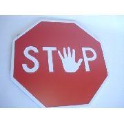 Placa Metal Stop Decoração Coleção
