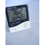 Termômetro Digital Com Relógio Umidade E Calendário