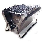 Churrasqueira Maleta Portatil Aço Inox Mod Yx8815