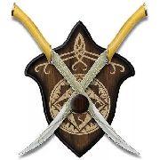 Par Espada Adaga Elfo Senhor Dos Anéis