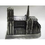 Miniatura Catedral Notre Dame Enfeite Decoração Metal