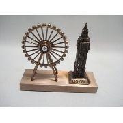 Miniatura Roda Gigante Big Ben Londres Enfeite Luxo